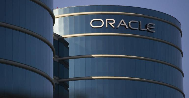 The Oracle Corp. headquarters stands in Redwood City, California, U.S., on Saturday, June 15, 2013. Oracle Corp is expected to release earnings data on June 20. Photographer: David Paul Morris/Bloomberg