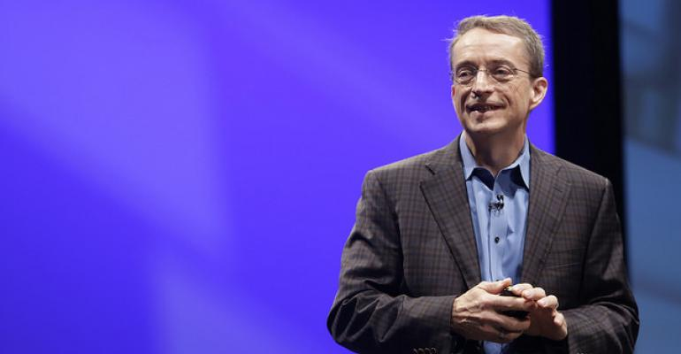 VMware CEO Pat Gelsinger speaking at VMworld 2016