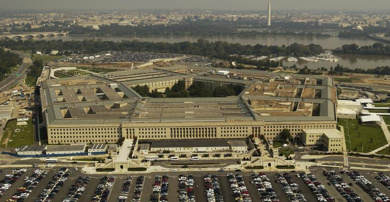 An aerial shot of the Pentagon
