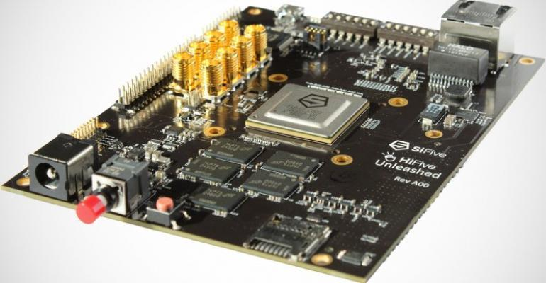 RISC-V processor on HiFive Unleashed developer board.