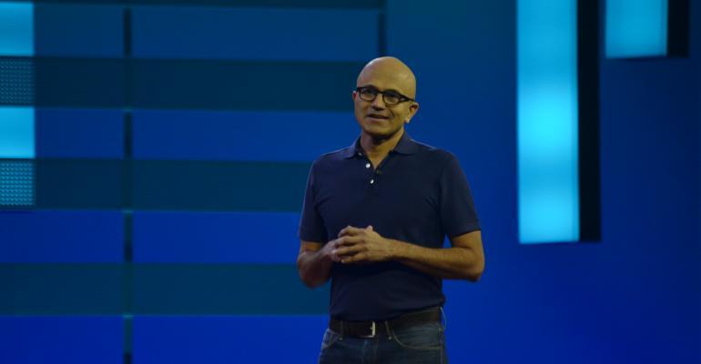 Microsoft CEO Satya Nadella at Microsoft Ignite 2018