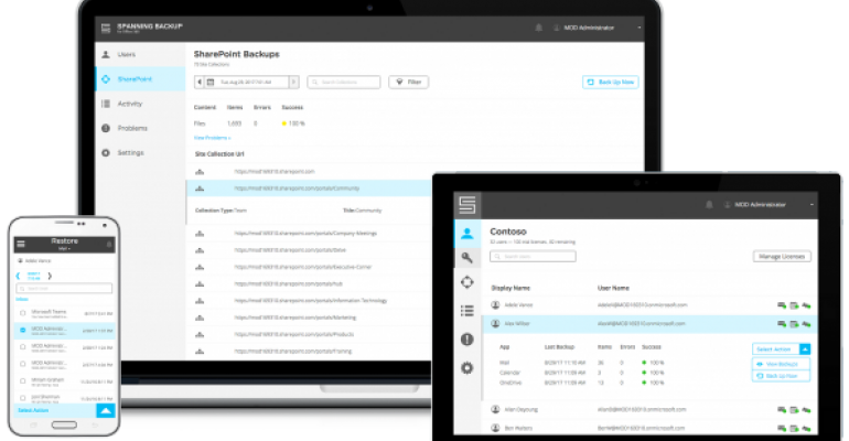Spanning Backup for Office 365 Product Page