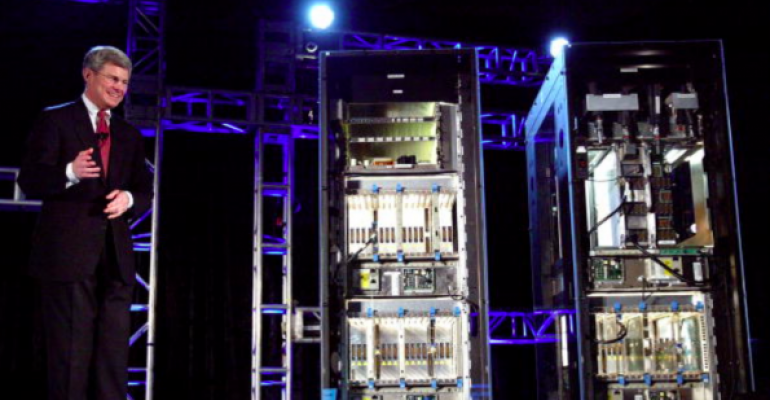 Introduction of the IBM eServer z990 mainframe in in San Francisco in 2003