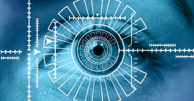 Image of Eye Scan for Security