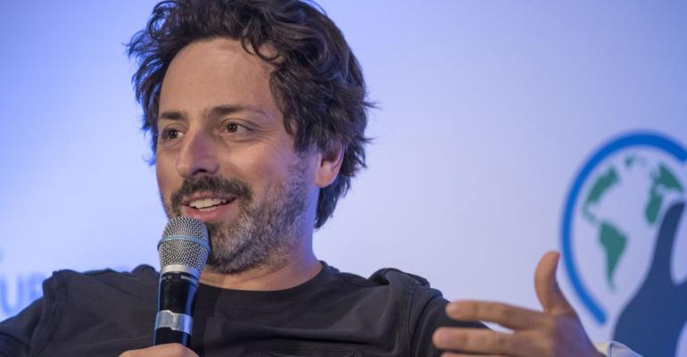 Sergey Brin, president of Alphabet and co-founder of Google Inc., speaks during the 2016 Global Entrepreneurship Summit (GES) at Stanford University in Stanford, California, U.S. Photographer: David Paul Morris/Bloomberg