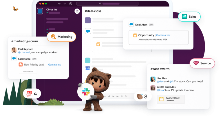 salesforce and slack product