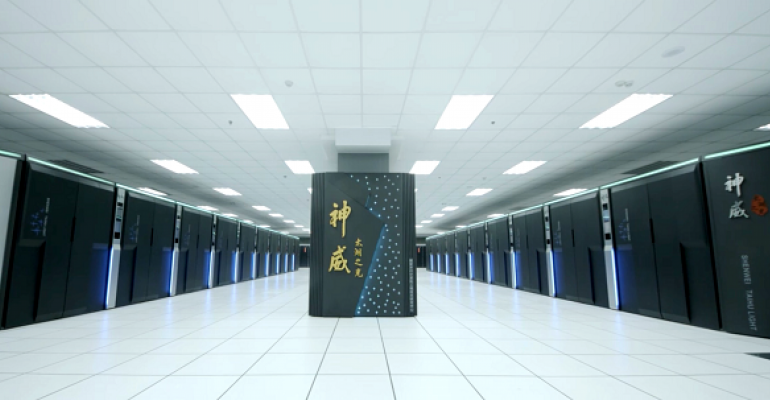 The Sunway TaihuLight supercomputer, running at the National Supercomputing Center in the city of Wuxi, China