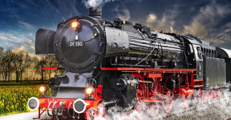 train chugging away