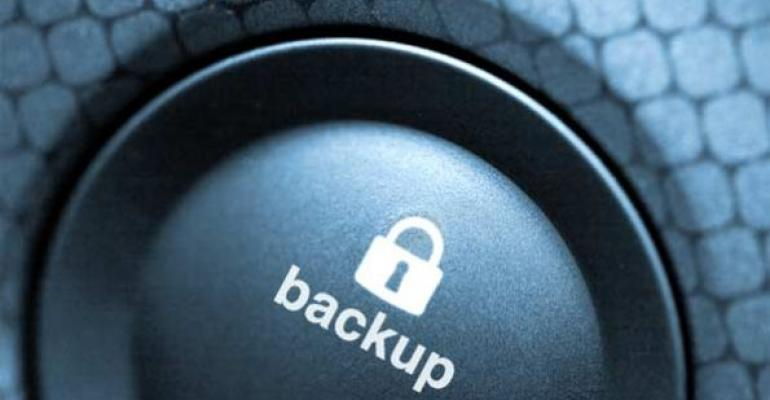 backup button with image of lock
