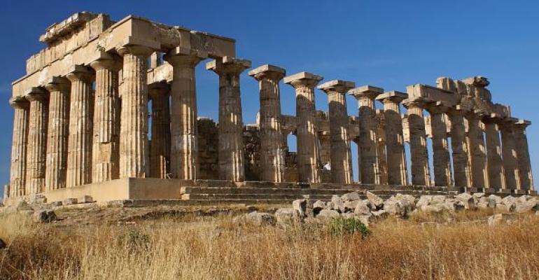 Ruins of old Greek temple