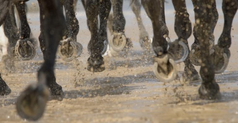 galloping horse hoofs