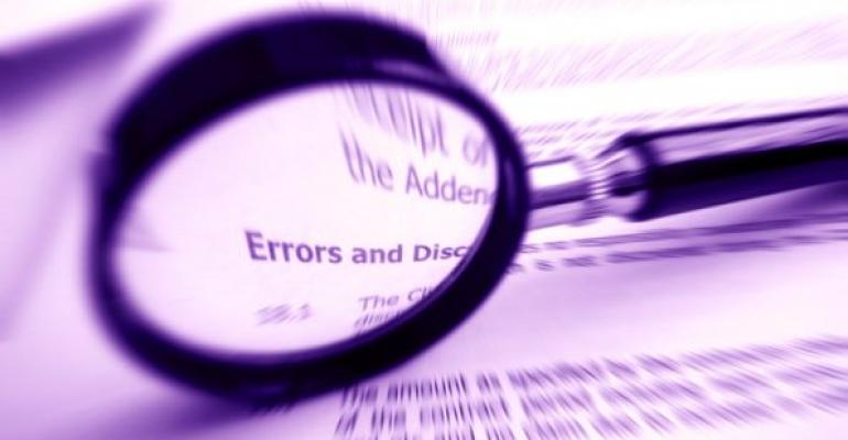 magnifying glass showing the word Errors