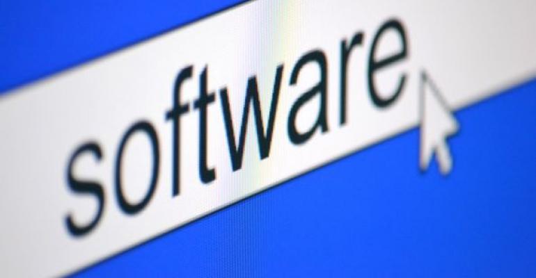 Software written on a computer screen