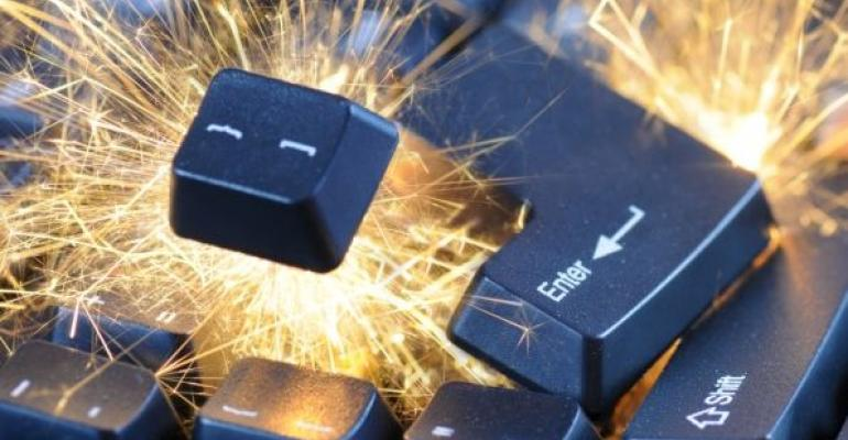 exploding computer keyboard