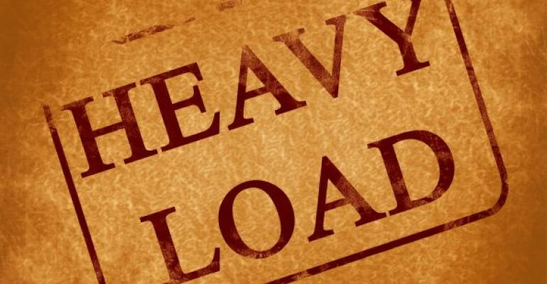 heavy load sign in brown