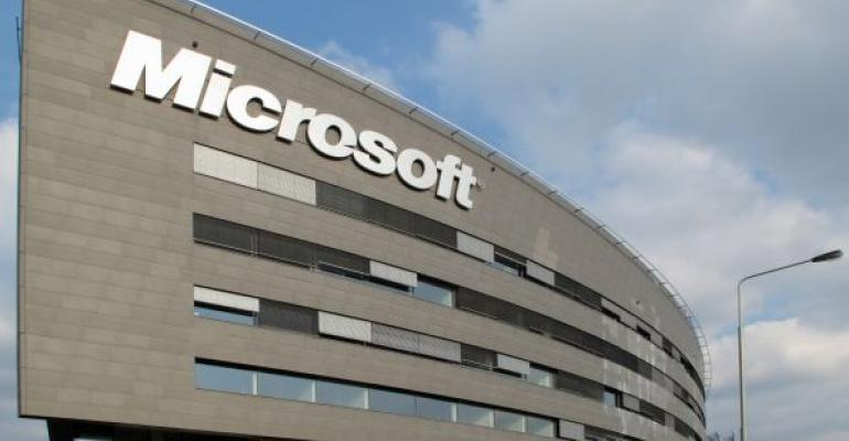 picture of a Microsoft corporate building with blue sky in background