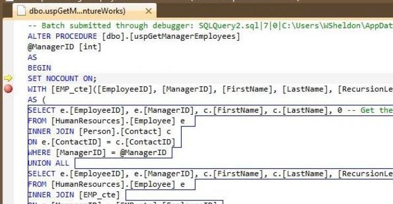 Visual Studio 2010 Stored Procedures It Pro