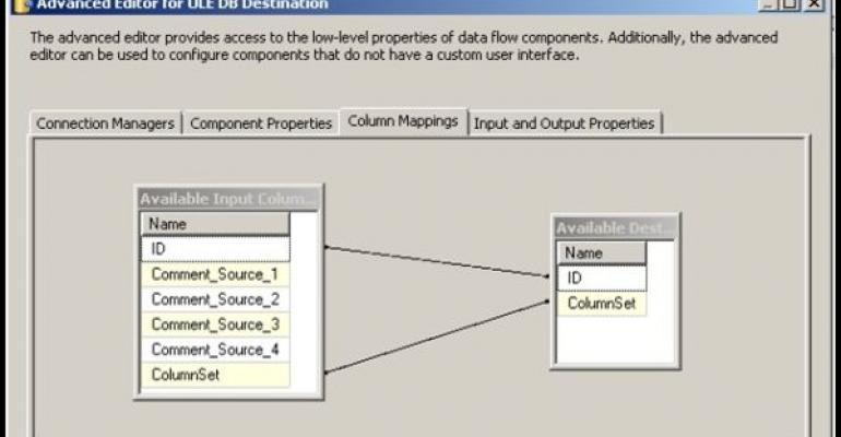 SQL Server Advanced Editor for OLE DB Destination