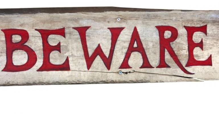 Beware wooden sign