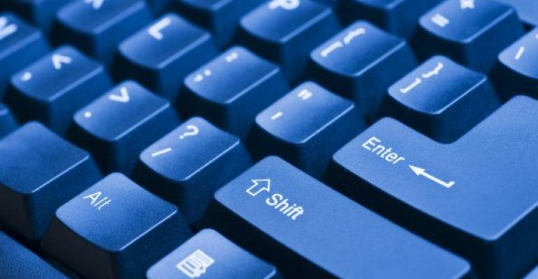 blue computer keyboard