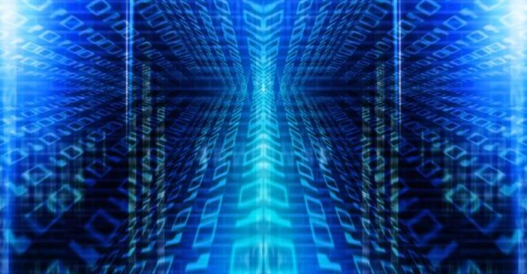 illustration of data with blue background