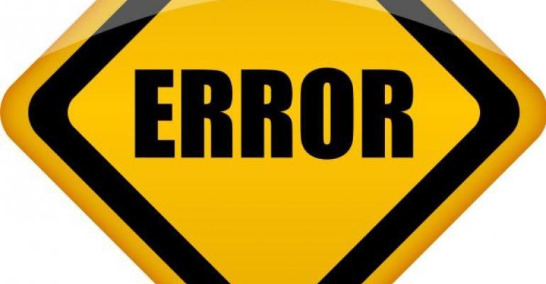 Stylized road sign reading ERROR