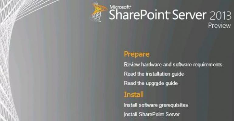 Installing SharePoint 2013: Video