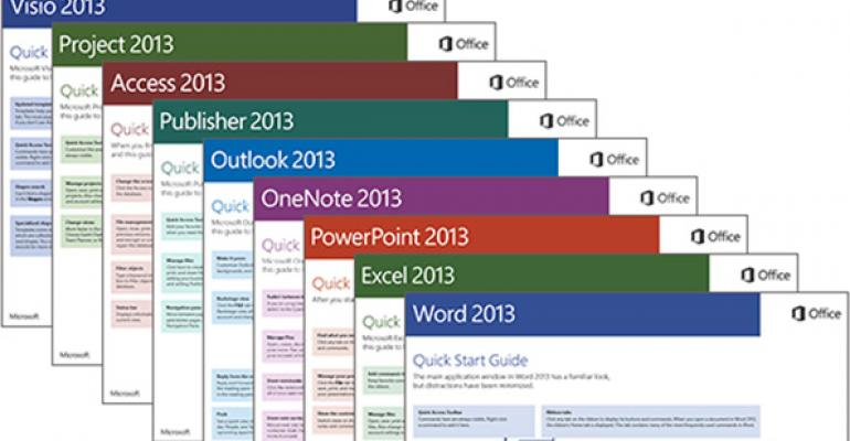 Microsoft Provides Free Office 2013 Quick Start Guides