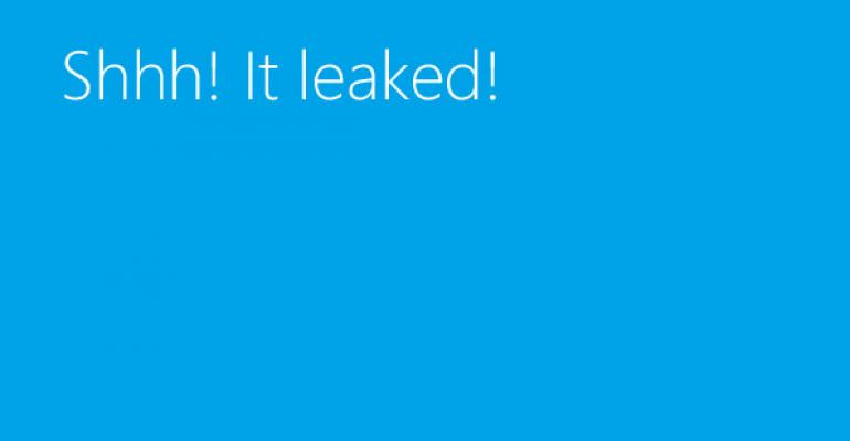 Windows Blue Leaks!
