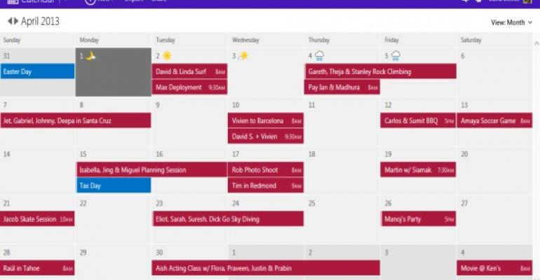 Outlook.com Finally Gets a Modern Calendar Experience