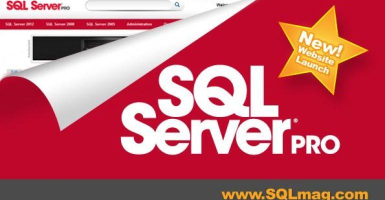 SQL Server Pro new website launch