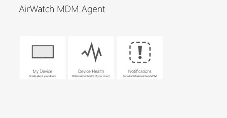 AirWatch Releases a MDM Client for Windows 8 and Windows RT | IT Pro