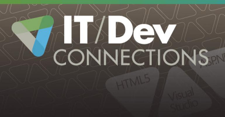 ITDev Connections logo on gray background