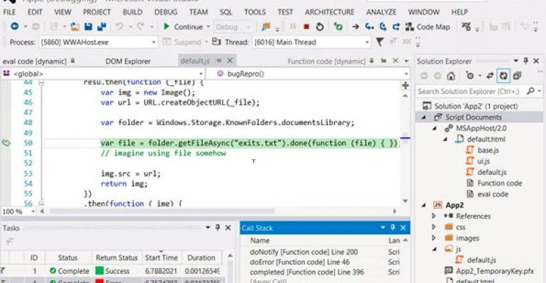 Build 2013: Visual Studio 2013 Preview and .NET Framework 4.5.1 Available for Download