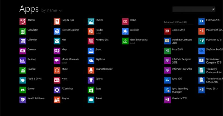 Hands-On with Windows 8.1: Apps View