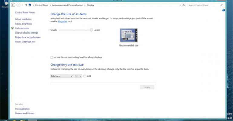 Hands-On with Windows 8.1: Desktop Display Scaling