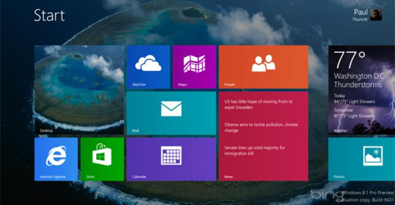 Hands-On with Windows 8.1: Start Screen