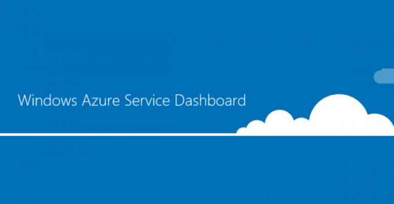 Introducing the Windows Azure Service Dashboard