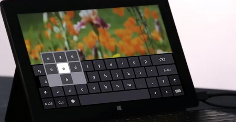 Hands-On with Windows 8.1: Touch Keyboard