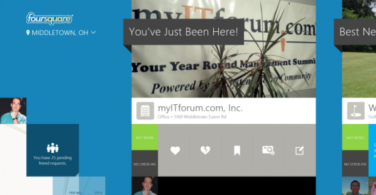 Official Foursquare App for Windows 8 Worth the Wait