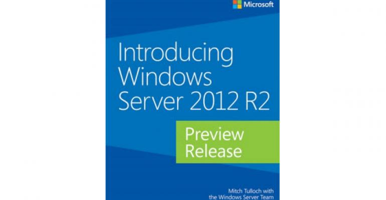 Free EBook for Windows Server 2012 R2 Preview Release