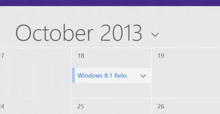 It's Official: Windows 8.1 is Coming in Late October