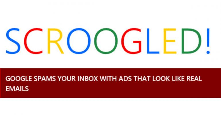 Microsoft Highlights Gmail's Spam Delivery Intrusion in New Scroogled Ad
