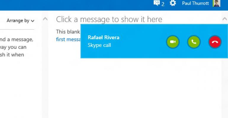 Microsoft Announces Skype for Outlook.com