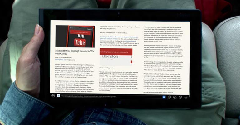 Windows 8.1 Tip: Better Reading with Internet Explorer 11