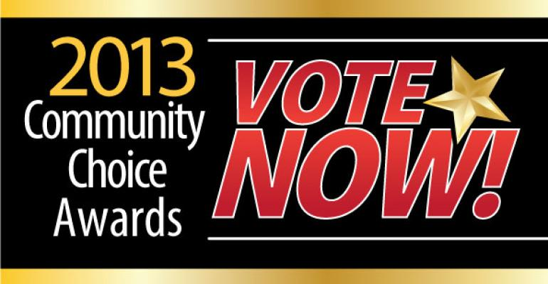 Vote Now in the 2013 Community Choice Awards!