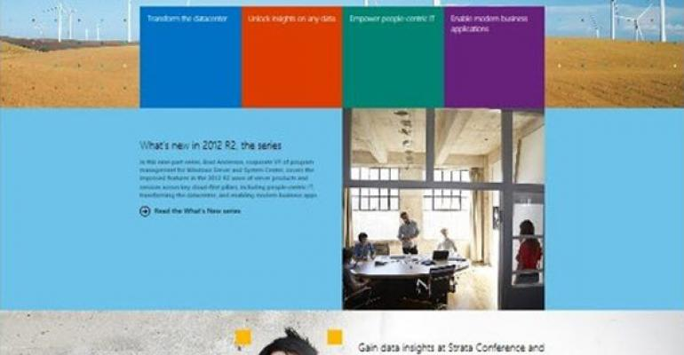 Prepping for R2, Microsoft's Server and Cloud Web Site Gets a Modern Facelift