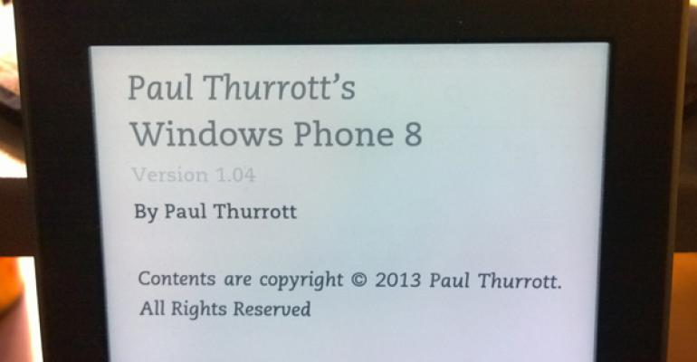 Paul Thurrott's Windows Phone 8 – Now in MOBI and EPUB Formats