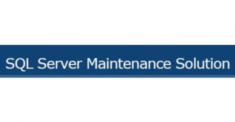SQL Server Maintenance Solution