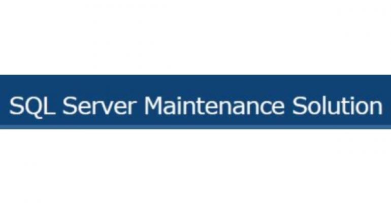 SQL Server Maintenance Solution